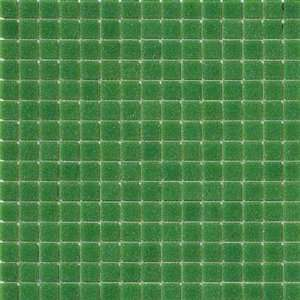 Marazzi Glass Mosaics 1 x 1 Moss Green Ceramic Tile Home