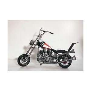 American flag chopper motorcycle