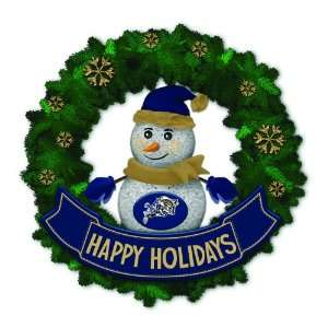 Midshipman Lighted Snowman Artificial Christmas Wreath