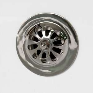 Daisy Wheel Overflow Cover with Bolt   Chrome Home Improvement