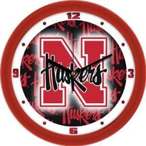 of Nebraska Cornhuskers 12 Wall Clock   Dimension