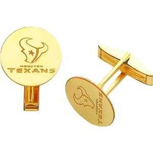 14K Gold NFL Houston Texans Logo Cuff Links  Sports