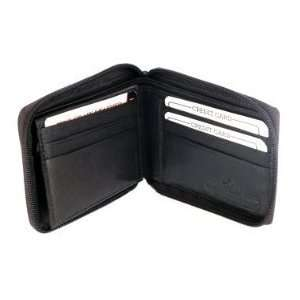 Fold Mens Wallet Card Currency Picture Pockets Black
