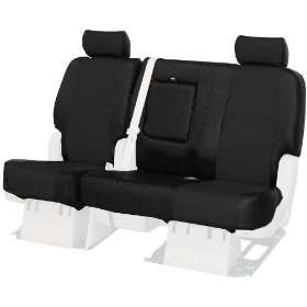 Custom Fit Rear Bench Seat Cover   Genuine Leather, Black Automotive