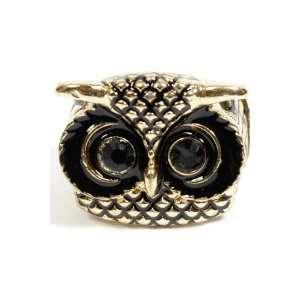 Cute Big Eye Owl Face Stretchable Ring