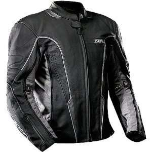 Z1R Dart Mens Leather Street Motorcycle Jacket   Black