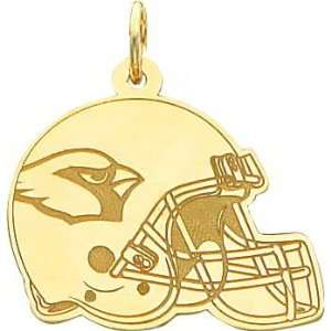 14K Gold NFL Arizona Cardinals Football Helmet Charm