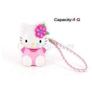 4GB 3D Kitty USB Flash Drives U Disk (Pink) Electronics