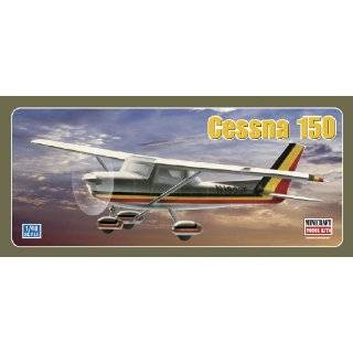 Cessna 150/152, White w/ Blue & Gold Trim Aircraft Model