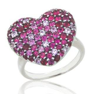 Effy Jewelers Balissima® Pink Sapphire Heart Ring in Sterling Silver