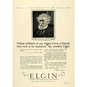 1925 Ad Elgin National Watch Time Timepiece Hudson Maxim