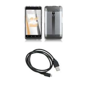 LG Revolution (Verizon) Premium Combo Pack   Clear Shield Hard Case