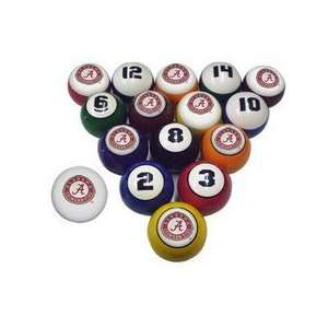 Alabama Crimson Tide Logo Billiard Pool Ball Set: Sports