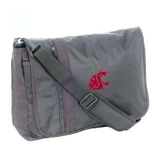 Washington State Cougars Black Messenger Bag