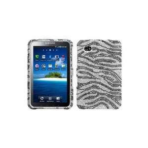 Samsung Galaxy Tab Full Diamond Graphic Case   Black/White