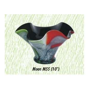 Multicolor Moon Vase Hand Blown Modern Glass Vase