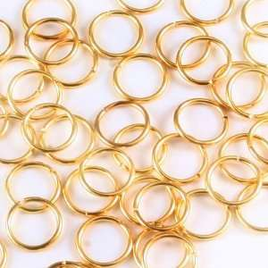 10mm Gold plated Jump Rings Arts, Crafts & Sewing