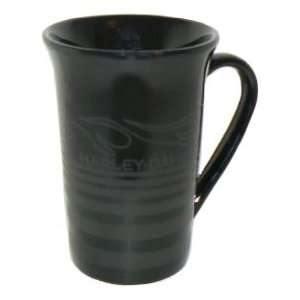 Harley Davidson 11 oz Black Flame Ceramic Coffee Mug