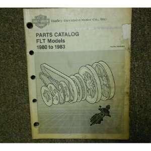 Harley Davidson Parts Catalog FLT Models Service Manual: harley