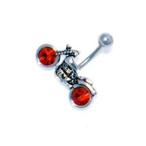 14g Navel Belly Ring   Harley Davidson Design Motorcycle