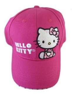 Hello Kitty Youth Little Girls Pink/Poka Dot Baseball Hat Clothing