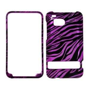 Premium   HTC 6400/ ThunderBolt   Transparent Black & Hot Pink Zebra