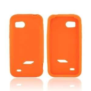 HTC Rezound Orange Non  Slip Soft Flexible Rubber Silicone Skin Case