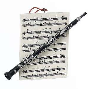 Musical Instrument Oboe & Sheet Music Christmas Ornament #82816