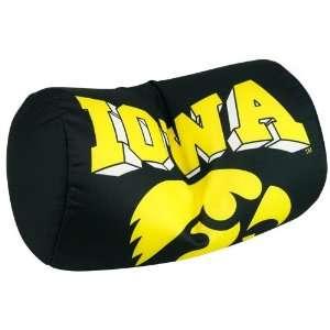 Iowa Hawkeyes Black Microbead Travel Pillow  Sports