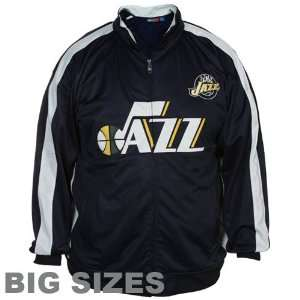 Majestic Utah Jazz Navy Blue White Big Sizes Full Zip