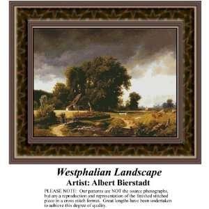 Westphalian Landscape, Counted Cross Stitch Patterns PDF