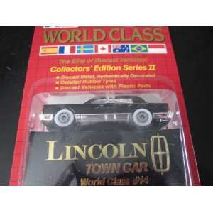 Lincoln Town Car (Black) Matchbox World Class Red Card Series #2 (1989