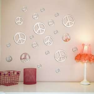 Wall Decal   Peace Sign Mirrors