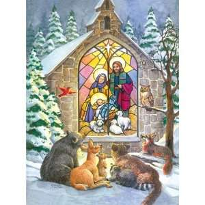 Sunsout Stained Glass Nativity 1000 Piece Jigsaw Puzzle Toys & Games