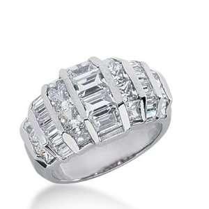 18k Gold Diamond Anniversary Wedding Ring 18 Princess Cut, 20 Straight