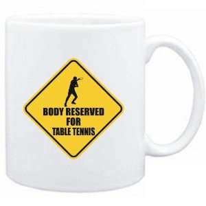 Mug White  BODY RESERVED FOR Table Tennis  Sports