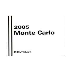 2005 CHEVROLET MONTE CARLO Owners Manual User Guide Everything Else