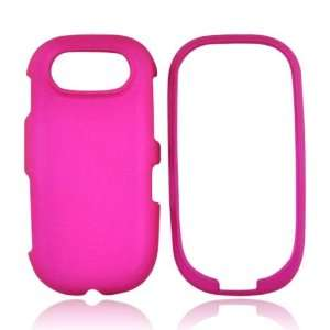 Pantech Ease P2020 Rubberized Hard Case HOT PINK Cell Phones