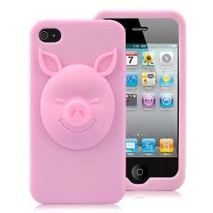 3D Pig Pattern Design Silicone Case For iPhone 4 and 4S
