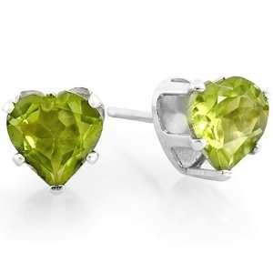Shape Natural Green Peridot Stud Earring 925 Sterling Silver Jewelry