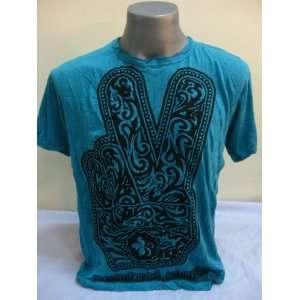 Thailand Sure Blue Big Peace Wrinkle T shirt