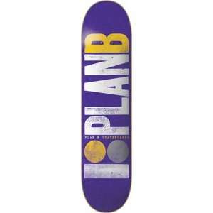 Plan B Original Team Skateboard Deck   7.75 Purple Sports