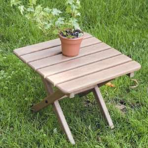 Recycled Plastic Traditional Square Side Table Patio, Lawn & Garden