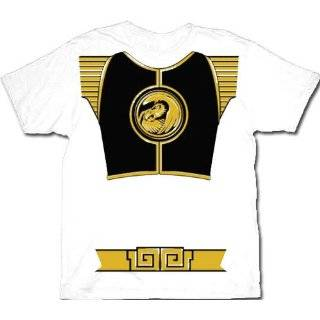 Power Rangers White Ranger Costume Adult T shirt Tee