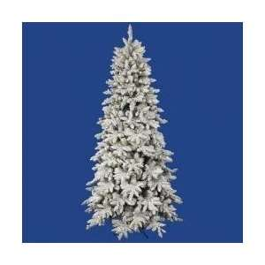 Pre Lit Flocked LED Lighted Olympia Fir Artificial Christmas Tree