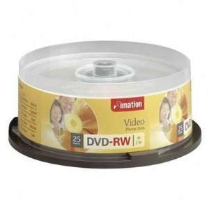 Imation Dvd Rw 4.7 Gb 4x Branded 25 Ea/Pkg High Quality
