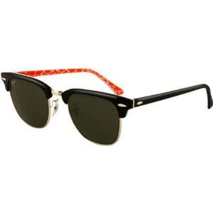 Ray Ban RB3016 Clubmaster Icons Race Wear Sunglasses   Black/Red