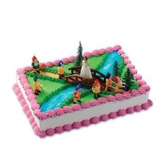 2 Disney Snow White, Dopey Dwarf Doll Toy, Cake Topper