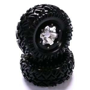 Type2 2.2 Wheel w/ Crawler Tire(2), Black Toys & Games