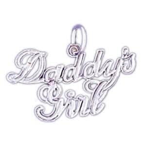 14kt White Gold DaddyS Girl Pendant Jewelry
